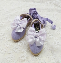 LILAC SUMMER SHOES + WHITE BOW | VE21-31