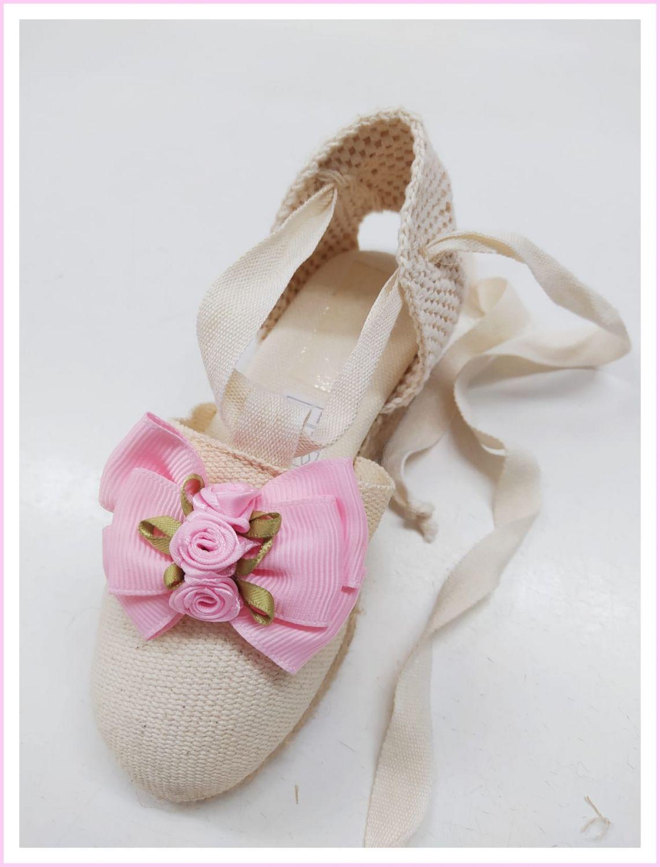 Alpargata de Verano Flor rosa