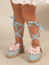 BLUE SUMMER SHOES WITH PINK BOW | VE21-34