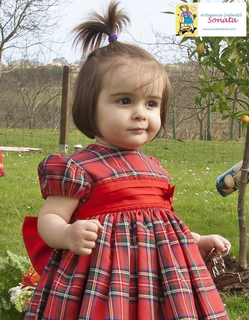 Puffball Red Tartan Dress