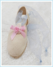 Summer Shoe Tulle baby blue pink flower