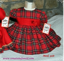 Puffball Red Tartan Dress